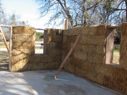 A Straw Bale Cabin in the making.